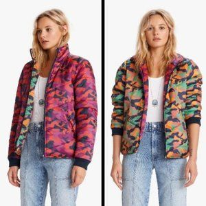 Mother | Two Faced Puffer Jacket Reversible Camo